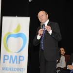 """Traian Basescu: """"PMP Mehedinti are toate sansele sa fie pe locul 1"""""""