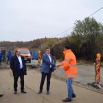 Aladin Georgescu şi Nicolae Drăghiea au inspectat stadiul lucrărilor de infrastructură din judeţ
