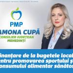 """Ramona CUPĂ, locul 1 pe lista PMP pentru CJ MEHEDINȚI: """"Vreau ca toți copiii Mehedințiului să crească sănătoși!"""""""