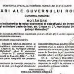 Hotărârea de Guvern cu privire la finanțarea Bazinului de înot din Drobeta Turnu Severin, publicată în Monitorul Oficial